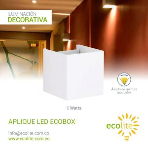 Ecolite: Aplique LED ecobox